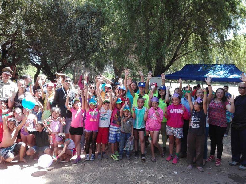 Medio centenar de niños de Angol disfrutan de la campaña de verano del SENDA Araucanía