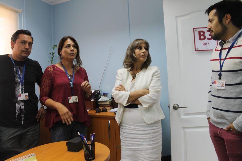 Directora regional de SENDA visita programas de tratamiento en San Bernardo
