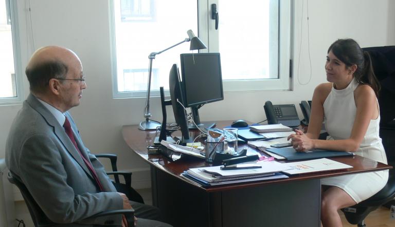 Director de SENDA entrega saludo protocolar a nueva subsecretaria de Prevención del Delito
