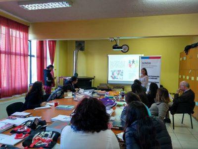 Capacitan en materias preventivas a docentes del Liceo Politécnico Werner Grob Stolzenbach de La Unión
