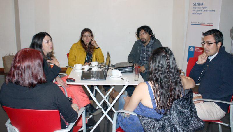 Senda Aysén Organizó Mesa Técnica Interregional  con Equipos Previene de la Región de Los Lagos
