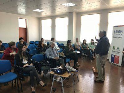 Senda Previene Cauquenes firma acuerdo de colaboración con Establecimientos Educacionales de la comuna