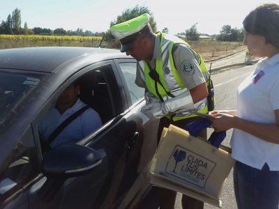 SENDA Previene y Carabineros hicieron llamado de prevención a conductores en San Clemente