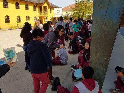 Senda Previene Cauquenes participa en celebración del día mundial del deporte en Colegio Blanco Encalada