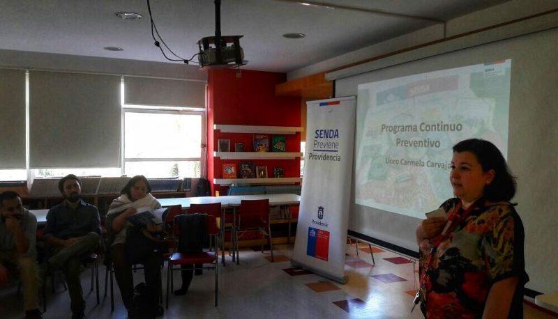 Liceo Carmela Carvajal implementará programas preventivos de SENDA en 2018