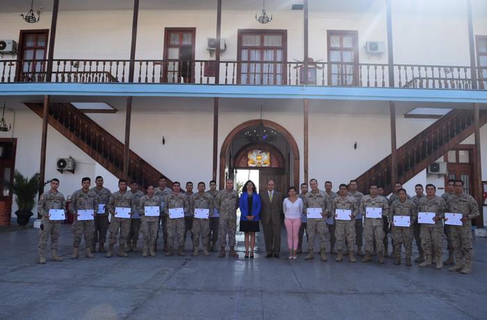 Certifican a veinticuatro militares del Ejército de Chile como monitores preventivos del consumo de drogas