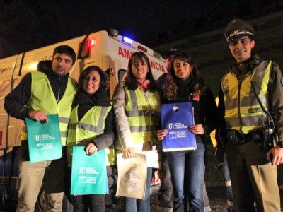 Autoridades regionales entregaron recomendaciones en operativos nocturnos de control preventivo a conductores
