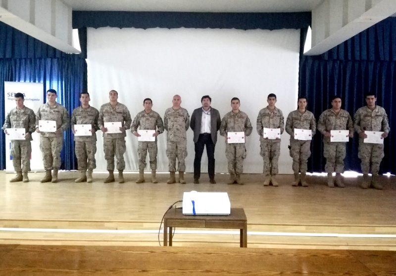 Certifican a militares del Ejército de Chile como monitores en prevención de drogas en Antofagasta