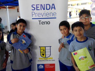Emociones y Sentimientos fue la 2ª feria de Convivencia escolar que contó con la participación del SENDA Previene Teno