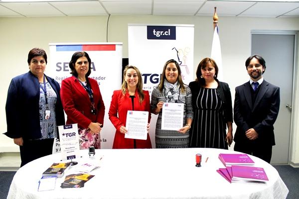Tesorería Regional Rancagua firma acuerdo con SENDA para implementar programa «Trabajar con Calidad de Vida»