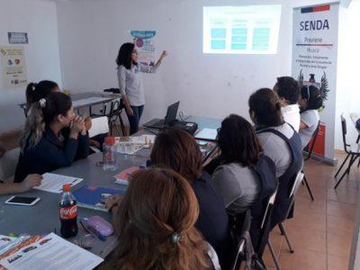 Capacitan a profesores de Pisagua en programas de prevención escolar