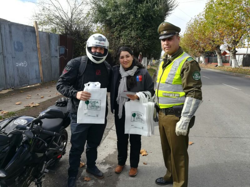 Realizaron campaña preventiva a conductores en Teno