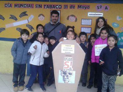 SENDA Previene San Clemente conmemoró en establecimientos educacionales el día mundial sin tabaco