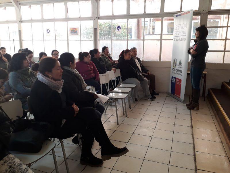 """SENDA Previene Cauquenes realizó jornada de reflexión """"La Prevención la Hacemos Todos"""