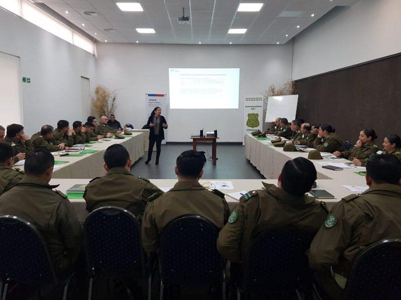 OS7 y SENDA capacitan a Carabineros de Curicó en Prevención, Rehabilitación y Ley 20.000