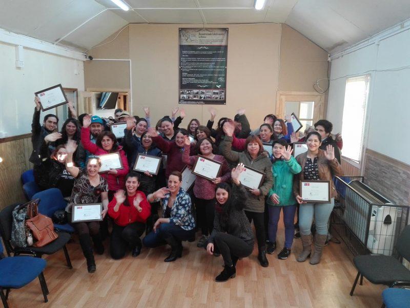 Felices se mostraron participantes del programa Acción en Familia del Fosis y ejecutado por Senda