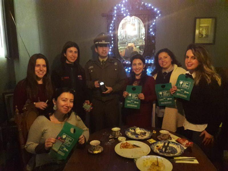 SENDA Previene Talca recorrió pub LOBA entregando mensajes preventivos en el marco de la campaña «Cuida tus Límites»