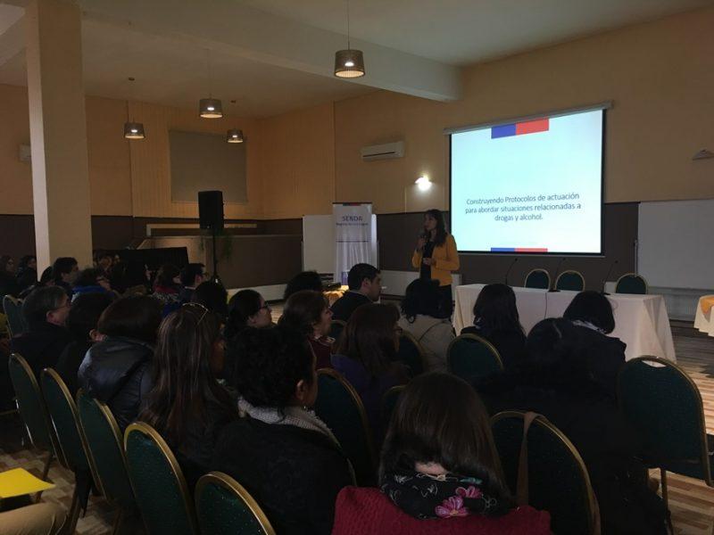 SENDA Los Lagos realiza capacitaciones provinciales en protocolos de actuación para situaciones de drogas en establecimientos educacionales