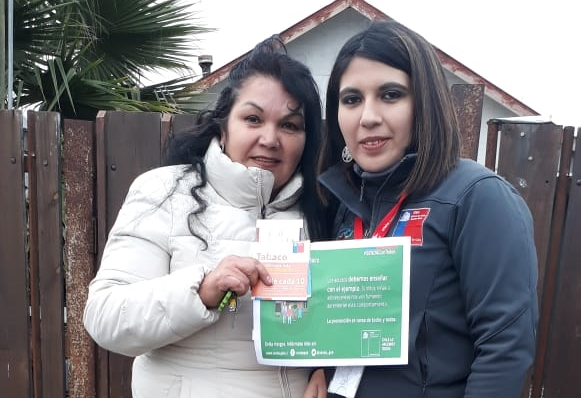 SENDA Previene Sagrada Familia realizó campaña «Día Mundial sin Tabaco»