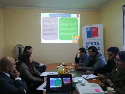 SENDA Previene La Unión realizó coordinación con representantes del intersector para beneficiar a la comunidad
