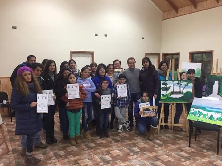 """SENDA Previene Río Bueno desarrolló segunda jornada de """"Pintar en familia"""""""