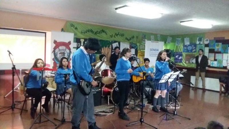 Estudiantes de Hualaihué conmemoraron Mes de la Prevención del Consumo de Drogas