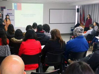 Equipos del programa Actuar a Tiempo de SENDA fortalecen su formación en el primer Encuentro Zonal del año en Valparaíso