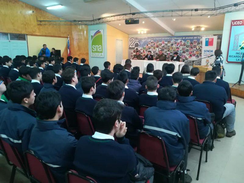 Liceo Industrial Ingeniero Ricardo Fenner Ruedi de La Unión desarrolló Foro Educativo en temáticas preventivas