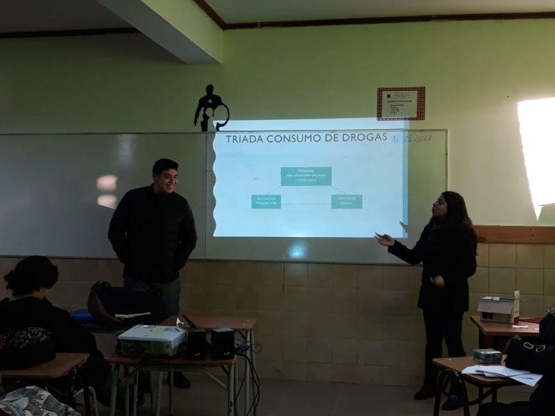 Programa Actuar a Tiempo de SENDA Previene Cauquenes realizó taller en Liceo Bicentenario