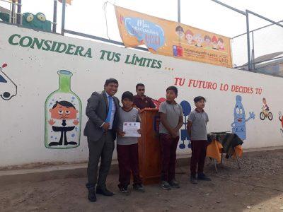 Escolares de Tarapacá pintaron mural preventivo del consumo de alcohol