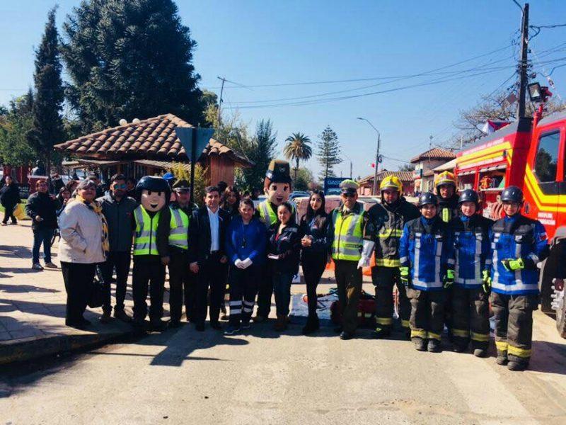 Con simulacro de accidente SENDA Previene San Clemente hizo un llamado a la prevención en Fiestas Patrias