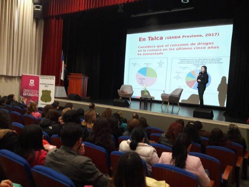 SENDA Previene Talca y la comisión comunal realizaron seminario de prevención del consumo de alcohol y otras drogas