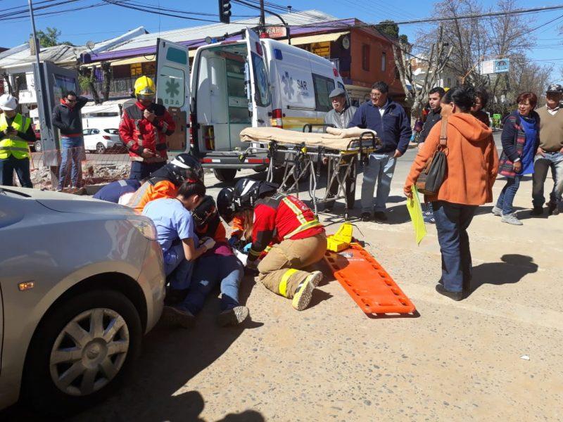 Gran impacto genera simulacro de accidente de tránsito en Cauquenes
