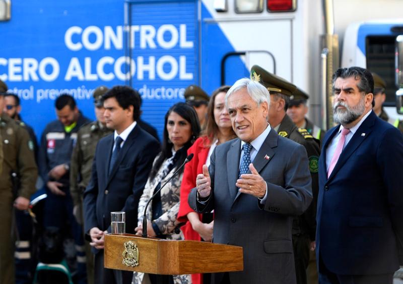 Presidente Piñera anuncia operativo de seguridad y tolerancia cero al alcohol durante celebraciones de Fiestas Patrias