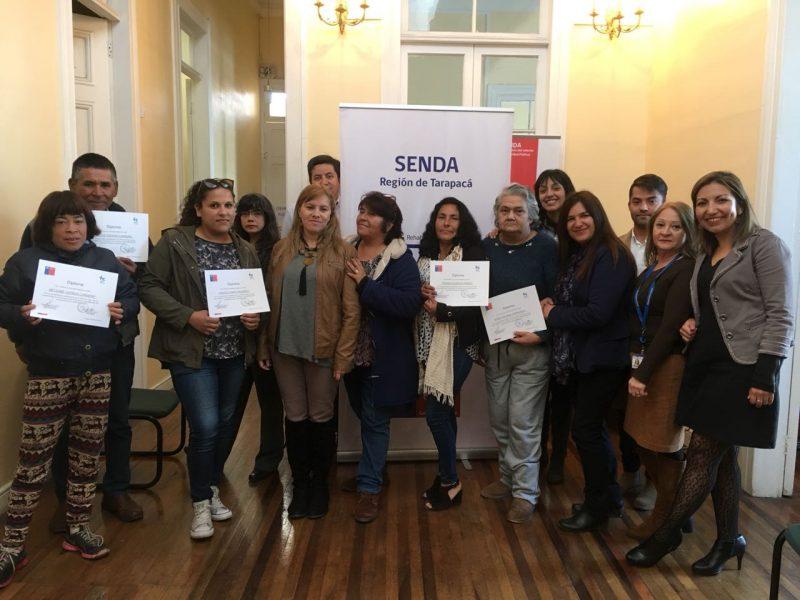 SENDA Tarapacá certifica a doce personas que finalizan su participación en el programa Orientación Sociolaboral