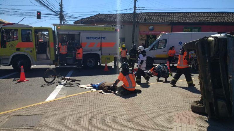 SENDA Previene Colbún junto a otros organismos realizaron simulacro de accidente de tránsito