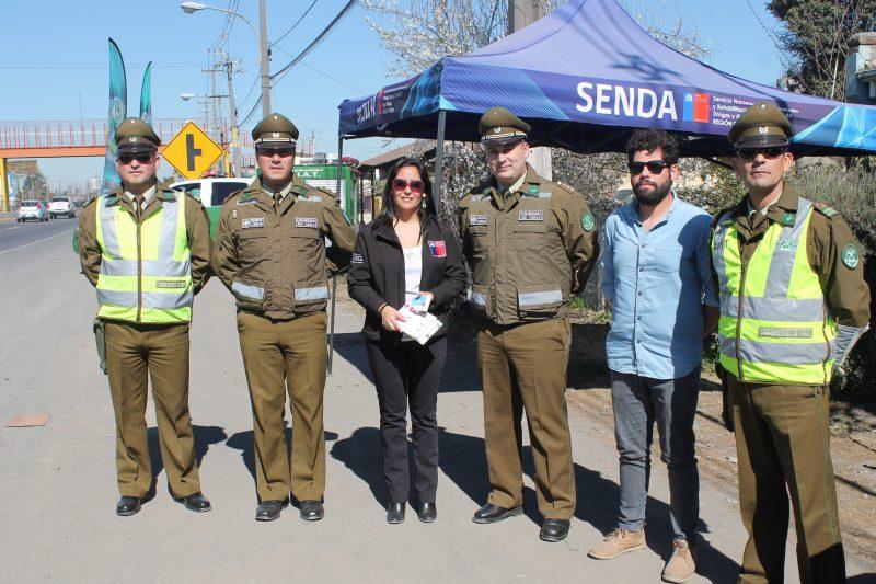 SENDA y Carabineros de Chile, inician actividades para prevenir accidentes en estas Fiestas Patrias
