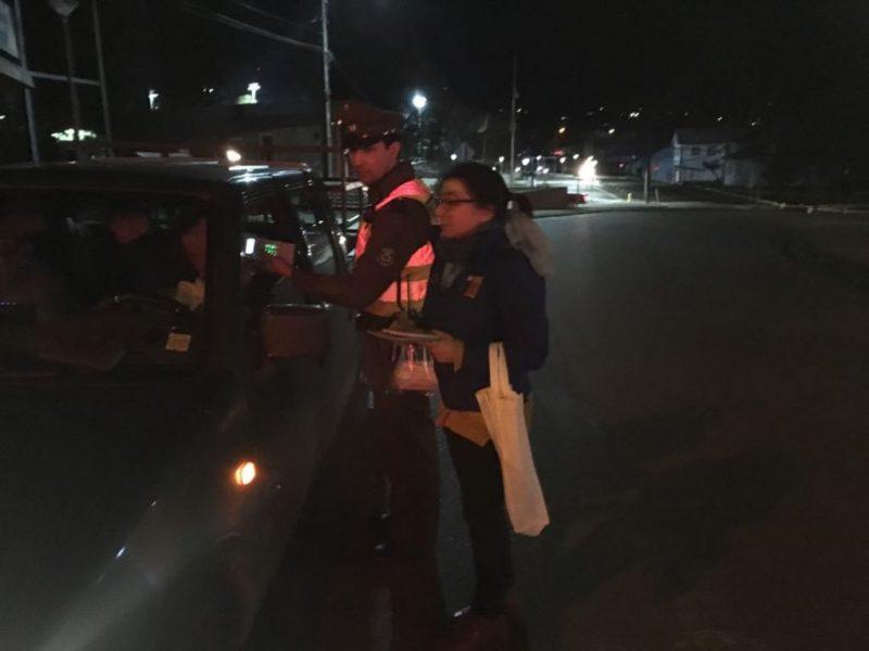 Controles preventivos a conductores se realizaron en Panguipulli