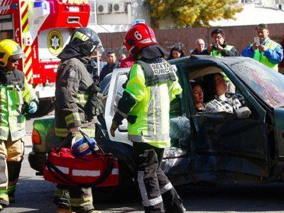 En Curicó y Sagrada Familia realizaron impactante simulación que muestra consecuencias de conducir bajo la ingesta alcohólica