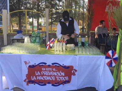 En medio de una fiesta criolla promueven campaña de prevención del alcohol en Pica