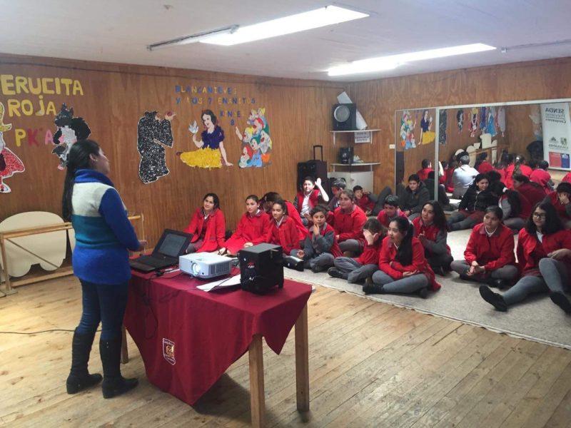 SENDA Previene Cauquenes ejecutó acciones de prevención universal en colegio Garden College