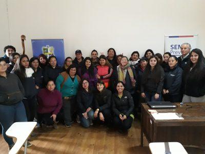 SENDA Previene Cauquenes capacitó en prevención del consumo de alcohol y otras drogas a trabajadores de programa PROFOCAP