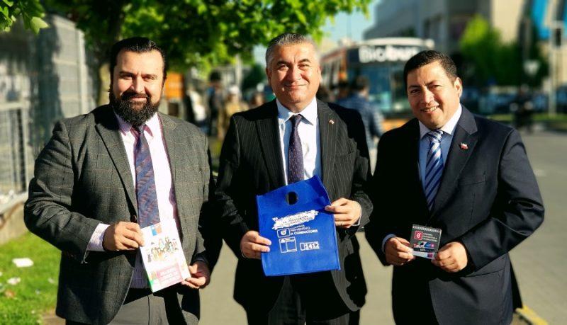 Gobernación de Concepción, SENDA y Subsecretaria de Prevención del Delito entregan información a usuarios de Biotrén.