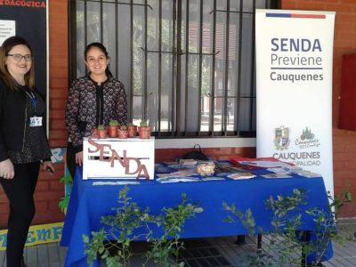 Senda Previene participa en la tercera versión de feria saludable desarrollada por el liceo Bicentenario Cauquenes