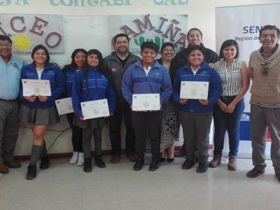 Líderes estudiantiles de Camiña se suman a la labor preventiva de SENDA