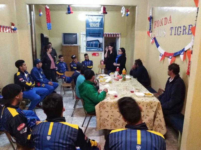 SENDA Previene La Unión y Club Deportivo Provincial Ranco visitaron albergue municipal de personas en situación de calle