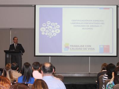 Director Nacional SENDA participó en certificación de espacios laborales del Programa Trabajar con Calidad de Vida y las Estrategias MIPE y PYME Preventiva