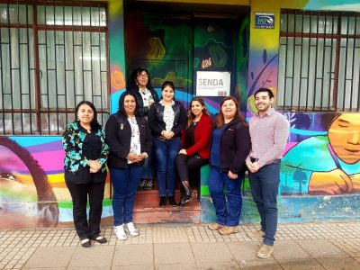 Directora Regional del SENDA Araucanía asesora técnicamente a equipo comunal de Angol.
