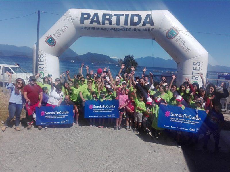 En Hualaihué se realizó primera corrida familiar #SendaTeCuida