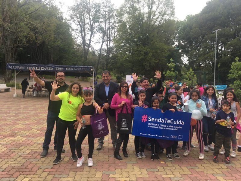 En Parque IV Centenario de Osorno promovieron campaña que invita a disfrutar sanamente las vacaciones de verano